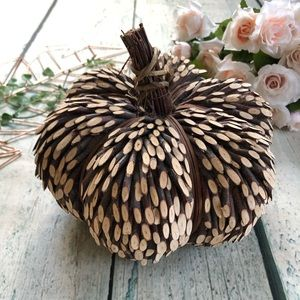 Wood pumpkin fall decor tree brown autumn holiday